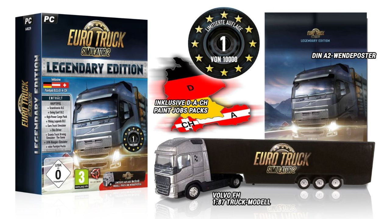 euro truck simulator 2 legendary limited edition. Black Bedroom Furniture Sets. Home Design Ideas