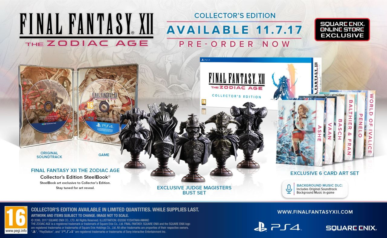inal Fantasy XII The Zodiac Age collectors edition