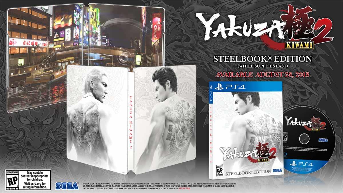 Yakuza Kiwami 2 Steelbook