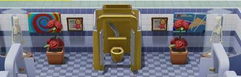 Two Point Hospital - Goldene Toilette