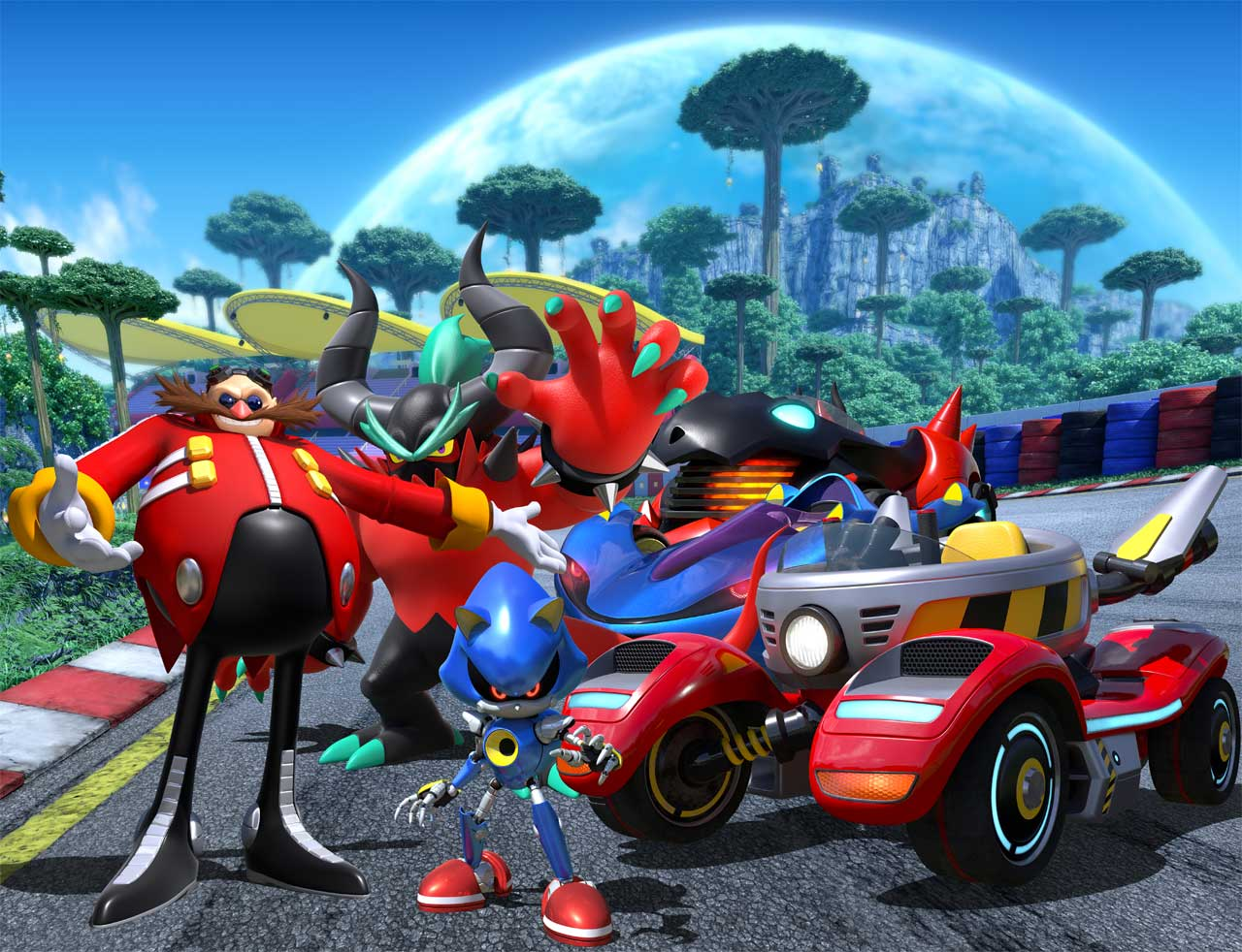 Team Sonic Racing Team Eggman Nimmt Am Rennen Teil