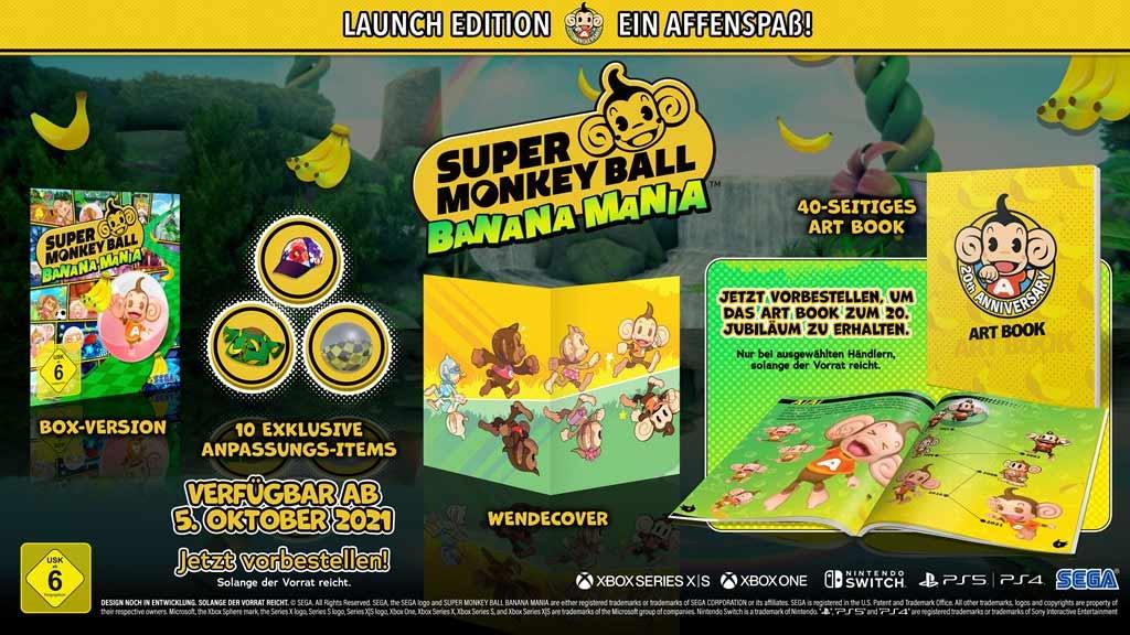 Super Monkey Ball Banana Mania - 20th Anniversary Edition